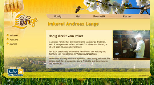 Website Imkerei